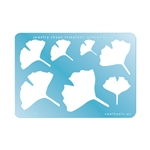 Jewelry Shape Template - Gingko Leaves