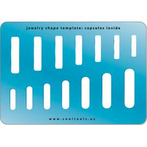 Jewelry Shape Template - Capsules Inside