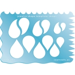Jewelry Shape Template - Drops with Funky Edges