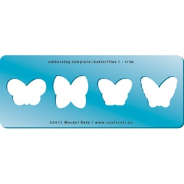 Embossing Template: Butterflies 1 - Trim