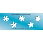 Embossing Template: Five Petal Flowers