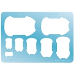 Jewelry Shape Template - Shield 2