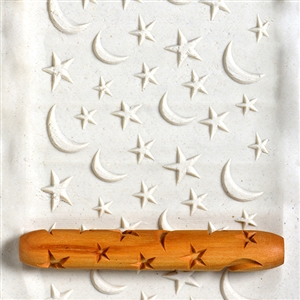 Wooden Hand Roller - Stars and Moons