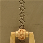 Large Wooden Mini Roller - Six Petaled Flower