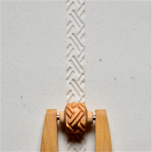 Large Wooden Mini Roller - Basketweave 1
