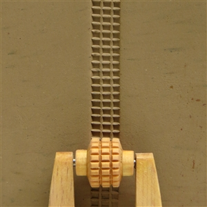 Large Wooden Mini Roller - Square Grid