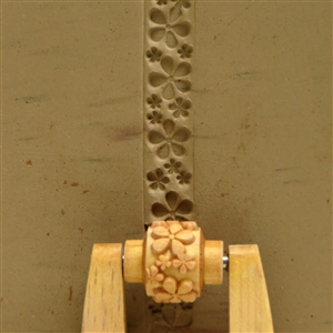Large Wooden Mini Roller - Embossed Flower