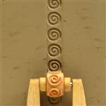 Large Wooden Mini Roller - Spiral