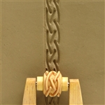 Large Wooden Mini Roller - Single Braid