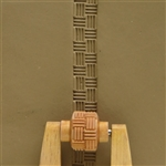 Large Wooden Mini Roller - Basketweave 2