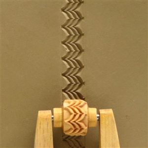 Large Wooden Mini Roller - Feathered Lines