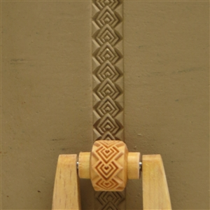 Large Wooden Mini Roller - Over-lapping Squares