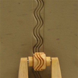 Large Wooden Mini Roller - Wavy Lines