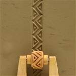 Large Wooden Mini Roller - Zigzag & Triangles