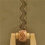 Large Wooden Mini Roller - 3 Zigzags