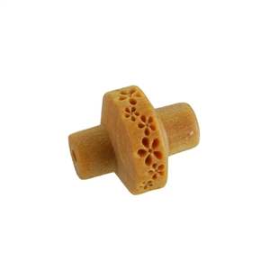 Wooden Mini Roller - Debossed Flower Pattern 5mm