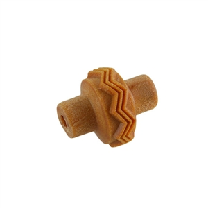 Wooden Mini Roller - Zigzag & Triangles 5mm