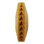 Wooden Finger Roller - Triangles 8mm