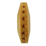Wooden Finger Roller - Stars 8mm