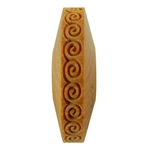 Wooden Finger Roller - Greek Key Spiral 8mm