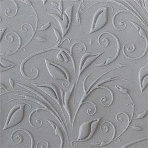 Texture Tile: Leaves & Tendrils Embossed
