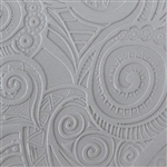 Texture Tile: Swirly Hearts Embossed