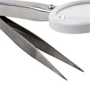 Tweezers - Stainless Steel Bead Magnifier