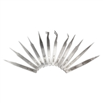 Tweezer Set - Stainless Steel 12 Piece
