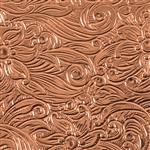 Textured Metal - Floral Waterfall - Copper 24 gauge