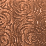 Textured Metal - Bed of Roses - Copper 24 gauge