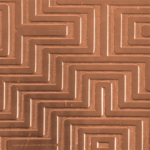 Textured Metal - Mayan Maze - Copper 24 gauge