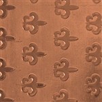 Textured Metal - Fleur de Lis Parade - Copper 24 gauge