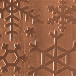 Textured Metal - Snow Day - Copper 20 gauge
