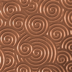 Textured Metal - Curly Swirly - Copper 24 gauge