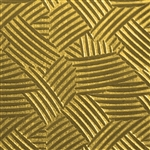 Textured Metal - Cross Hatch - Brass 22 gauge