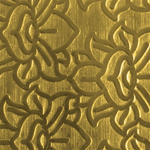 Textured Metal - Lotus Waterfall - Brass 22 gauge