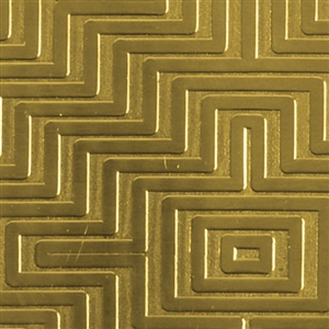 Textured Metal - Mayan Maze - Brass 22 gauge