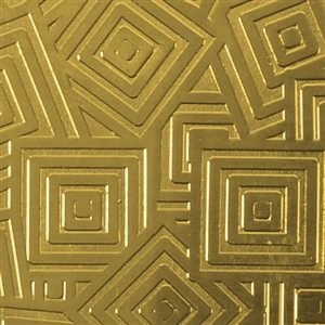 Textured Metal - Square Upon Square - Brass 22 gauge