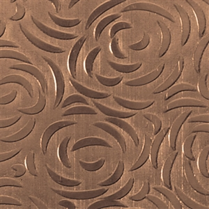 Textured Metal - Bed of Roses - Bronze 22 gauge