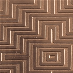 Textured Metal - Mayan Maze - Bronze 22 gauge