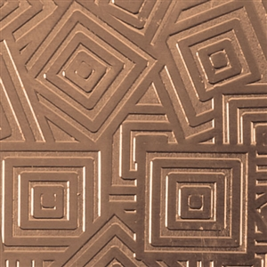 Textured Metal - Square Upon Square - Bronze 22 gauge
