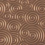 Textured Metal - Curly Swirly - Bronze 22 gauge
