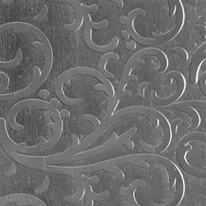 Textured Metal - Fancy Flourish - Sterling Silver 24 gauge