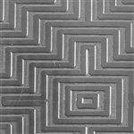 Textured Metal - Mayan Maze - Sterling Silver 24 gauge