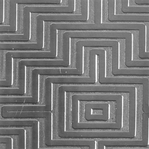 Textured Metal - Mayan Maze - Sterling Silver 20 gauge