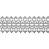 Patterned Strip - 935 Sterling Silver - Lacy Filigree 18 gauge - 6 Inches