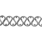 Patterned Strip - 935 Sterling Silver - Single Serpentine 20 gauge - 6 Inches