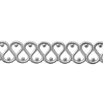 Patterned Strip - 935 Sterling Silver - Small Serpentine 22 gauge - 6 Inches