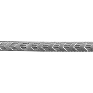 Patterned Strip - 935 Sterling Silver - Chevron - 6 Inches