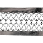 Patterned Strip - 935 Sterling Silver - Double Serpentine Hammered with Edging 22 gauge - 6 inches
